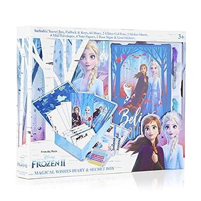 Disney Frozen 2 Diario Secreto Niña con Candado, Caja Sorpresa con Accesorios de Regalo Pegatinas, Princesas Disney Elsa Anna El Reino del Hielo, Regalos para Niñas Cumpleaños Navidad de Sambro