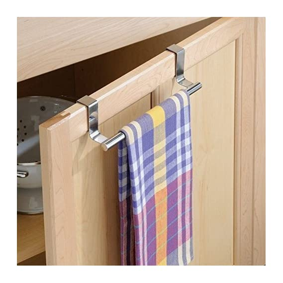 EKRON 1 PC Adhesive Stainless Steel 9'' Towel Rack Organiser/Wall Hook Hanger/Towel Holder for Hanging Towel, Clothes, Jeans, Jackets, Scarfs, in Room, Kitchen, Bathroom etc