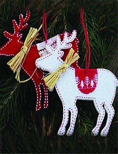 Ansenesna 2 Pz Alberi Di Natale Cervo Appeso Decorazione Ciondolo