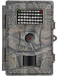 Wildkamera fulllight Tech 12 MP 1080P Wildkamera Fotofalle überwachungskamera mit Bewegungsmelder HD Outdoor Wasserdicht Nachtsichtkamera 12 Monate Garantie