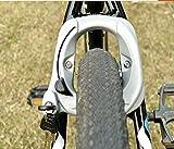 HNMS Gran Bicicleta de montaña antirrobo Cerradura Bicicleta Herradura Cerradura Plegable Coche Cerradura Bicicleta Fija (Gris)