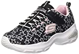 Skechers Mädchen D'Lite Ultra-Star Sprinter Sneaker, Schwarz (Black/Light Pink), 35 EU