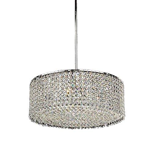 Tatosun LED-KristallDeckenleuchte Ø46cm E27 × 3-flammig Deckenlampe Octagon Kristall Anhänger Dekoration-Lampe Schlafzimmerleuchte Innenleuchte Wohnzimmerleuchte (ohne Glühbirne)230V (Decke-dome-anhänger)
