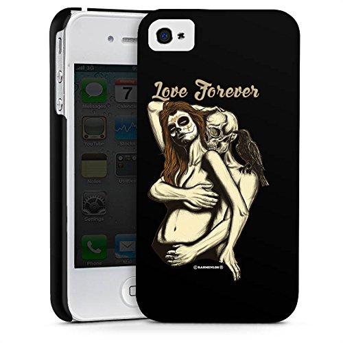 Apple iPhone X Silikon Hülle Case Schutzhülle Skull love Totenkopf Liebe Premium Case glänzend