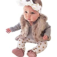 Baby Boys Girls Deer Tops Romper +Pants +Hat,HOMEBABY Newborn Baby Christmas 3PCS Outfits Clothes