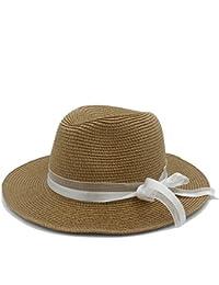 SMC Sombrero de Paja de Moda para Las Mujeres con Pamelas Sombreros Bodas  Chapeau Sombreros de Playa de Verano Queen Queen… a18e77643e9e