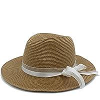 d691767d433d6 Moda Straw Sun Hats para Mujeres con Pamelas Sombreros Bodas Chapeau Mujer  Queen Summer Beach Sombreros