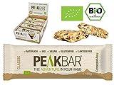 PeakBar | Energieriegel mit Kauerlebnis | 12 Riegel á 65g | Bio | Vegan | Glutenfrei | Ohne Zucker | Reis Protein | Eiweis