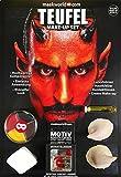 Maskworld Make-up Set Teufel - Halloween Schminke Komplett-Set mit Kontaktlinsen …