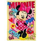 alles-meine.de GmbH Kuscheldecke / Fleecedecke - Disney - Minnie Mouse - 100 cm * 150 cm - Decke aus Fleece - für Mädchen - Schmusedecke - Winter Sommer Mädchendecke - Baby Kinde..