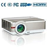HD Beamer Projektor, EUG LCD LED Heimkino Projektor 4200 Lumen 1280*800 Auflösung HDMI VGA AV USB inklusiv HDMI Kabel unterstützt 1080p für iPad iPhone TV Laptop Filmabend Videospiele