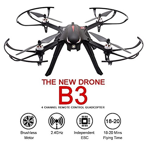 MJX Bugs 3 RC Racing drone, TIME4DEALS B3 Brushless two-way 2.4G contrôle RC quadcopter avec batterie 1800mah, distance de contrôle de 300m, temps de vol de
