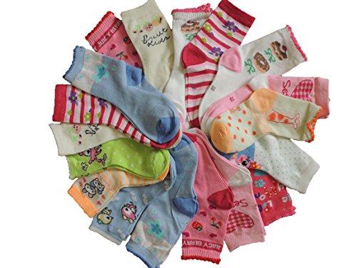 Wang Sheng 10 Paar Kinder Mädchen Socken Größe 27-39 (27-31)