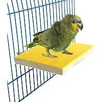 Bwogue Pájaro colorido perca soporte plataforma, madera natural Paw moler jaula de pájaro percha para loro periquito hámster Gerbil jaulas juguete