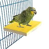 Bwogue Pájaro colorido perca soporte plataforma, madera natural Paw moler jaula de pájaro percha...