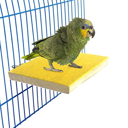 Bwogue Bunte Vogel Barsch Ständer Plattform, Naturholz Schleifstifte Vogelkäfig Sitzstange für Papagei Sittich Hamster Gerbil Käfige Spielzeug (Sittich Käfig Auf Ständer)