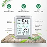 Habor Room Hygrometer, [Upgraded Version] Digital Thermometer Hygrometer with 3.5 Inch Large Touchscreen & Backlight, High Accuracy Indoor Temperature and Humidity Monitor for Home Office Cellar, etc