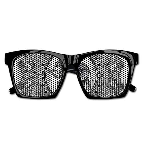 Mesh Sunglasses Sports Polarized, Ethnic Symbol of Strength of Spirit Bohem Hippie Design Floral Frame,Fun Props Party Favors Gift Unisex