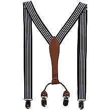Tirantes Elástica Ajustable Para Hombre Y Mujer 4 Pinzas De 2.5/3.5 Cm Ancho Vario Patrón