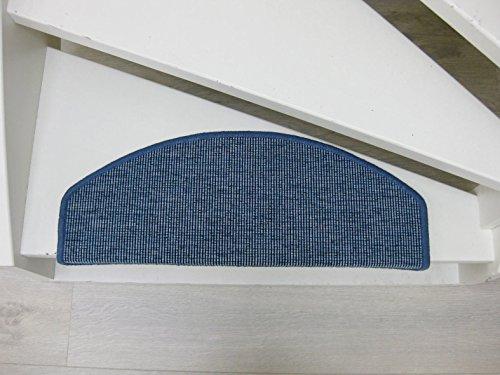 Teppichwahl Stufenmatten San Salvador 65x24x4cm Antracite, Beige, Blau, Gris, Sisal (Blau) - Tuft-teppich-matte