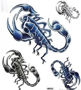 Scorpion tatouage temporaire non - toxique imperméable SPESTYLE stickersExtra grande taille format A4 8.3 x 11.7 pouces étanche tatouages   temporaires