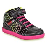 diMio -Lea- Stylische Kinderschuhe/Halbschuhe für Mädchen mit Blinkfunktion in schwarz/pink DKG-LEA-26