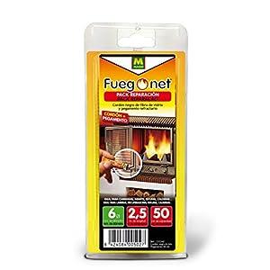 FUEGO NET Fuegonet 231242 Cordón, Negro, 11x3x22 cm