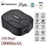 Zeerkeer GPS Tracker , 10000MAH GPS Ortung, Wasserdicht Echtzeit tracking GPS Locator, Professional Anti-verloren ,GPS Alarm Car Tracker für Auto lkw Moto Gefrier Boot mit Freier APP