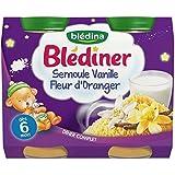 Blédina blédîner semoule et vanille fleur d'oranger 2x200g dès 6 mois - ( Prix Unitaire ) - Envoi Rapide Et Soignée