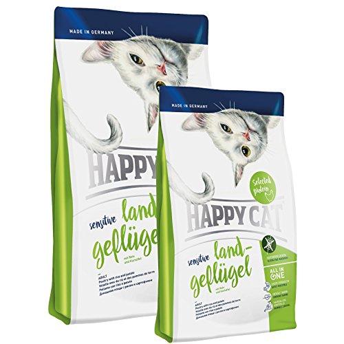 Happy Cat Sensitive Land Geflügel 4 kg + 2 x 300g *Gratis*