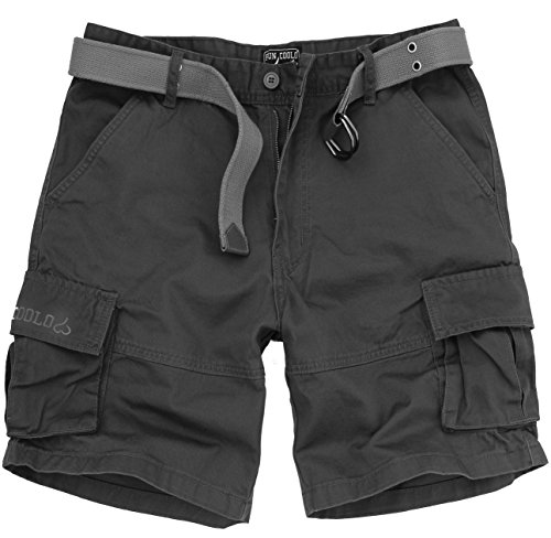 Fun coolo pantaloncini corti bermuda cargo short con tasconi laterali, con cintura mimetico m 48