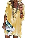 UMIPUBO Copricostume Donna Mare Costume da Bagno Abito da Spiaggia Tinta Unita Copricostumi da Bagno Cava Bikini Cover Up