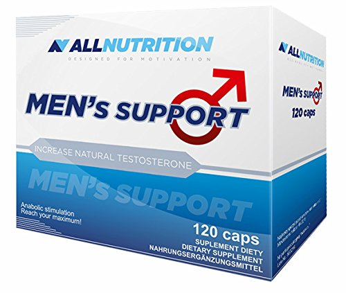 ALLNUTRITION Men´s Support Aminosäure Testosteron Booster Trainingsbooster Supplement Bodybuilding(Men´s Support 120 kapseln)