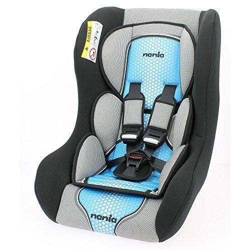 Autositz-0E 25kg–Gruppe 0/1/2–Herstellung 100% française- Sitzverkleinerer für Neugeborene–3Sterne Test TCS–Kopfkissen und inklusive Klingenschutz für mehr Komfort–Fünfpunktgurt