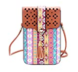 #6: Tribal Printed Mobile Pouch Sling Bag for girls to carry phone and cards in style