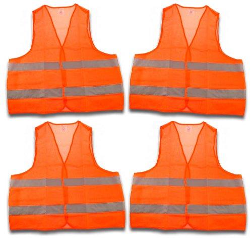 4-Stck-Warnweste-Sicherheitsweste-Pannenweste-EN-471-orange-mit-Reflektorstreifen-und-Klettverschluss-Universalgre