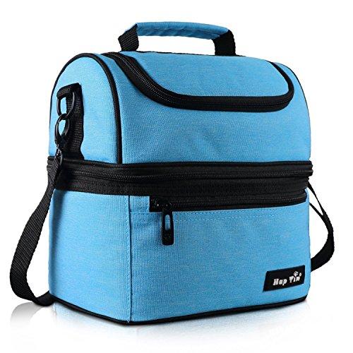 Kühltasche klein Kühlbox faltbar Lunchtasche Mittagessen Tasche Thermotasche Isoliertasche Picknicktasche für Lebensmitteltransport Arbeit Picknick 8 L(16040-BL)