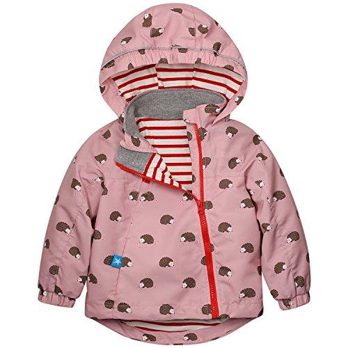 Junge Mädchen Regenjacke Frühling Herbst Winter Windjacke Süßem Pattern Mantel für Körpergröße: Label 120/Age 5-6T, Rosa ()