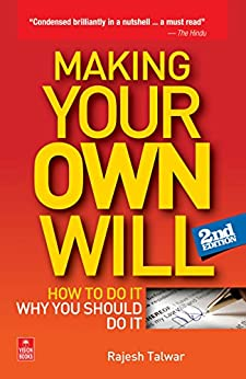 Making Your Own Will by [Talwar, Rajesh]