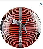 Puma One Chrome Ball Fußball, Rot Blast Schwarz - Silber,Größe 5