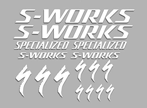 Ecoshirt G9 689p Dwjq Aufkleber Sworks S Works Bike F34 Stickers Aufkleber Decals Autocollants Adesivi Weiß
