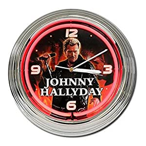 Johnny Hallyday - Pendule Neon Johnny Hallyday Rouge