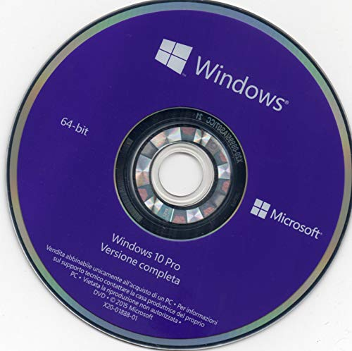 Windows 10 PRO 64 Bit New ITA DVD