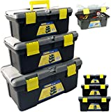 51MHqFX hTL. SL160  - BEST BUY# Marko Heavy Duty Plastic Toolbox Strong Durable with Handle Tray DIY Tool Storage Box (Black) Reviews
