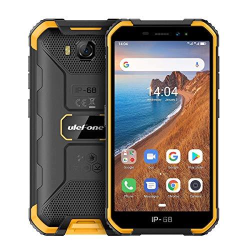 Ulefone Armor X6 Outdoor Smartphone (12.7cm(5,0 Zoll), 2GB RAM, 16GB interner Speicer, Android 9.0, Dual SIM, Face ID, 4000mAh Akku, E-Kompass/WLAN/GPS/Bluetooth) Orange