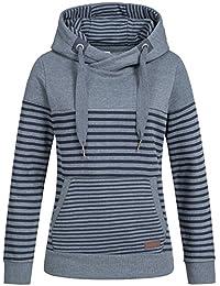 b4ddd8a05cc4 Sublevel Damen D1074L01736A Sweatshirt Kapuzen-Jacke Zip-Hood aus  Hochwertiger Baumwollmischung Meliert