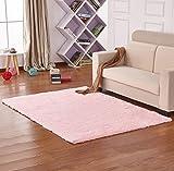 Yontree Anti-skid Living Room Soft Carpets Floor Mat Shaggy Area Rug Pink