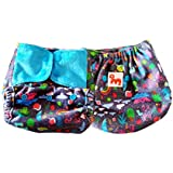Superbottoms Super Trim Supersoft Reusable Cover Cloth Diaper with 1 Stay Dry Soaker (Rimzim)