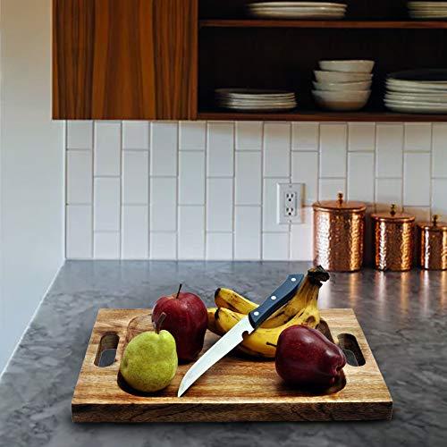 Premium Organic tagliere/vassoio da rurale fatto a mano. Tagliere taglia extra large 45cm x 30cm x 4cm. Migliore per carne, verdure e formaggio. Qualità professionale per forza e resistenza.