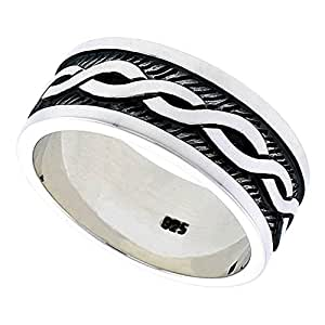 Sterling Silver Celtic Knot Men's Ring Flawless finish size T 1/2